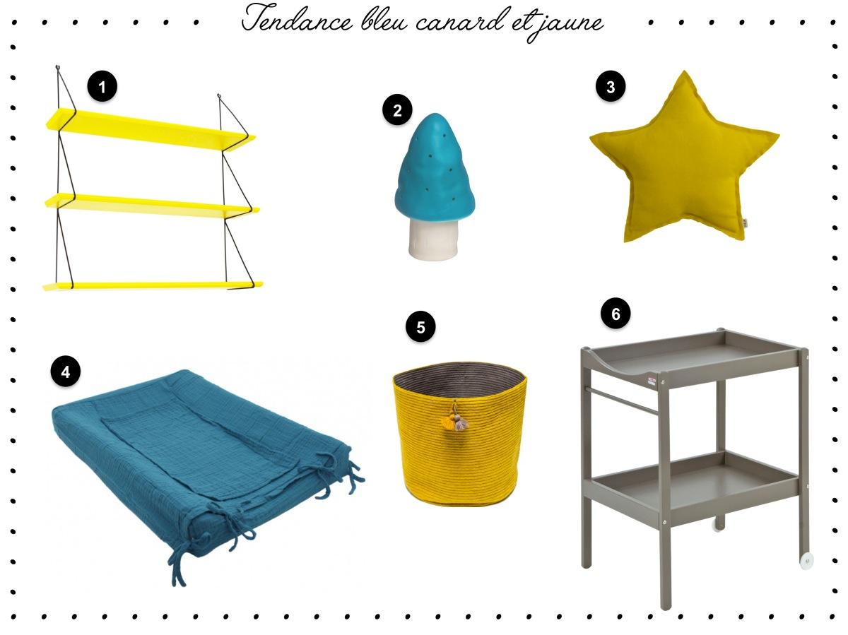 tendance bleu canard et jaune pour la chambre de mon fils achille un joli monde. Black Bedroom Furniture Sets. Home Design Ideas