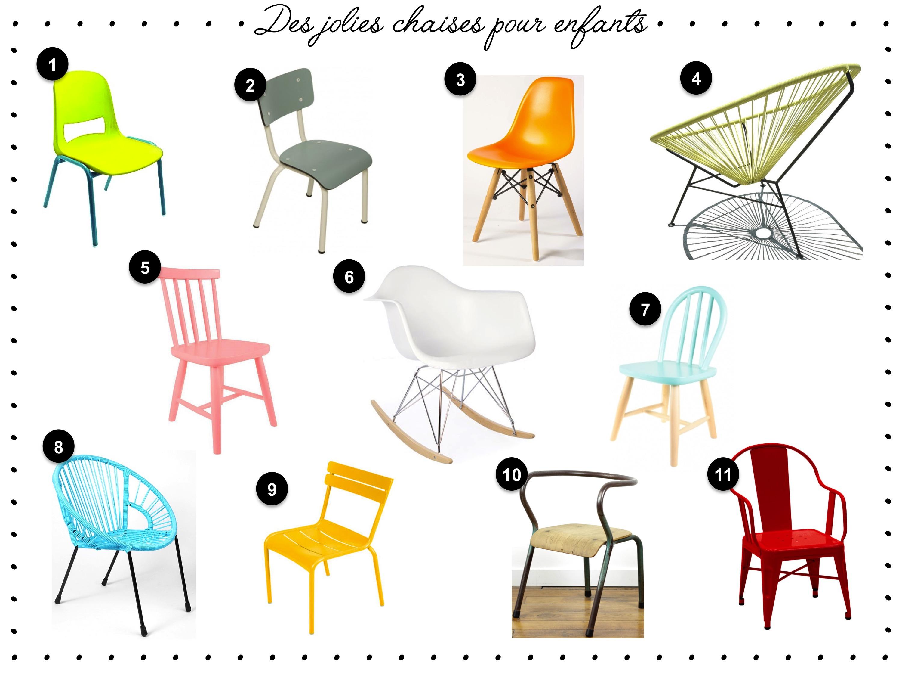 Des Jolies Petites Chaises Pour Enfants Un Joli Monde - Chaise de chambre design