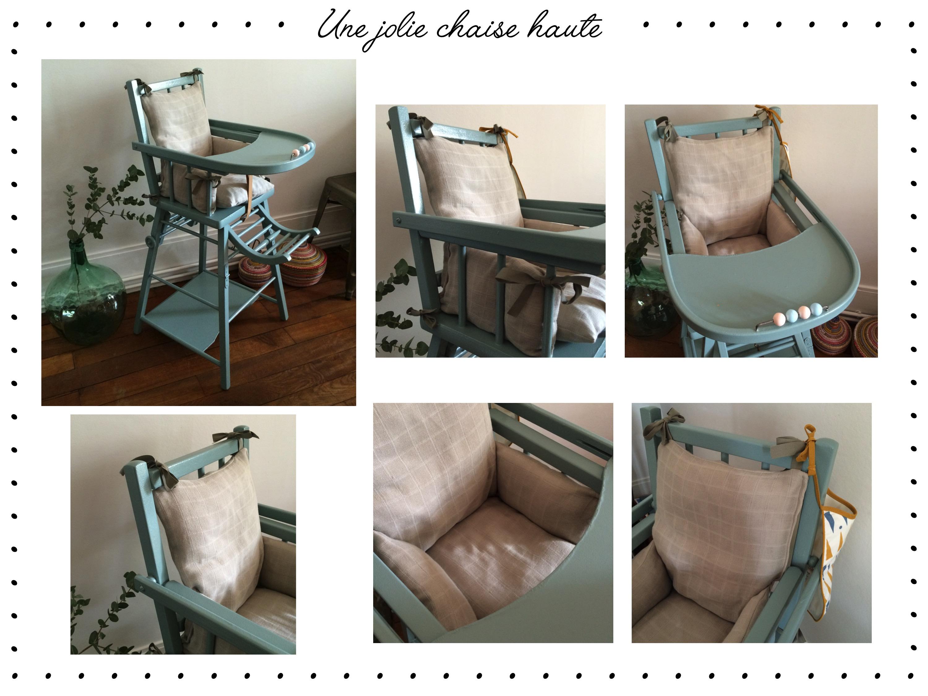 DIY] Un joli coussin pour une chaise haute belle